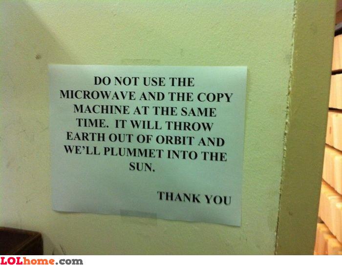 Microwave warning
