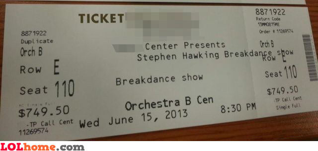 Stephen Hawking breakdance show