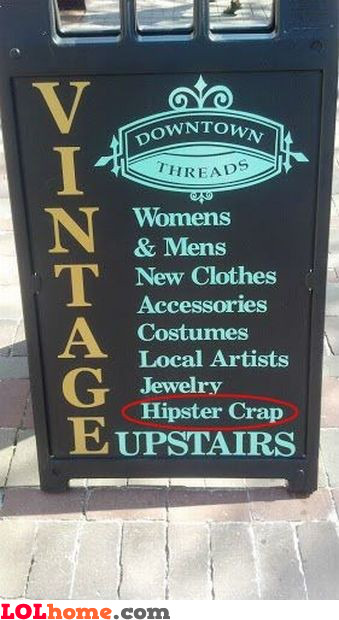 Hipster crap