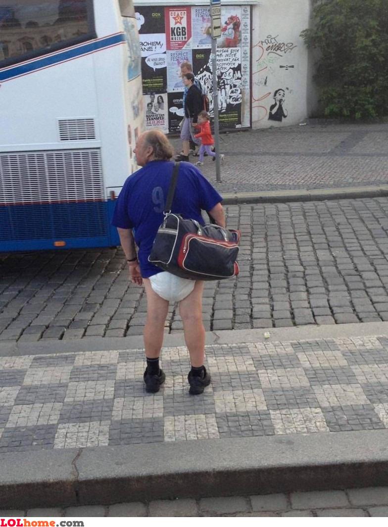 DIaper in public