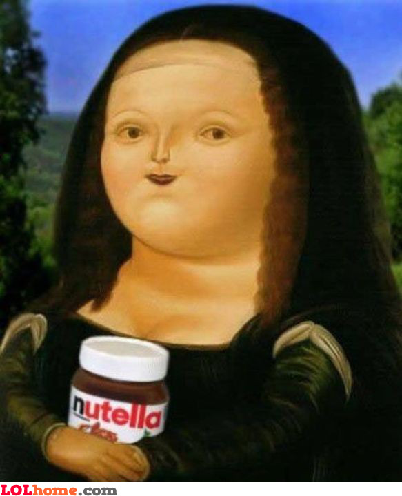 Mona Lisa on Nutella