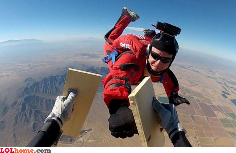 Skydiving black belt