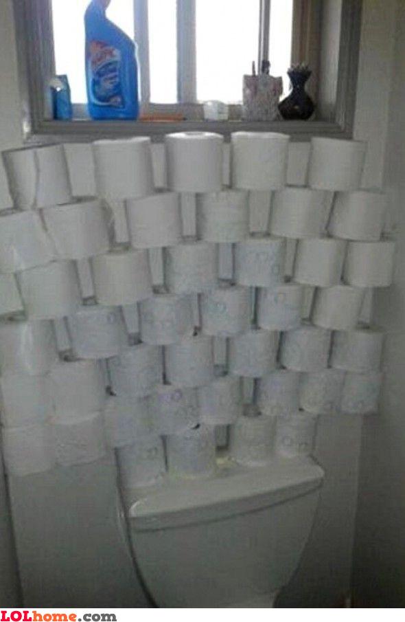 Enough toilet paper
