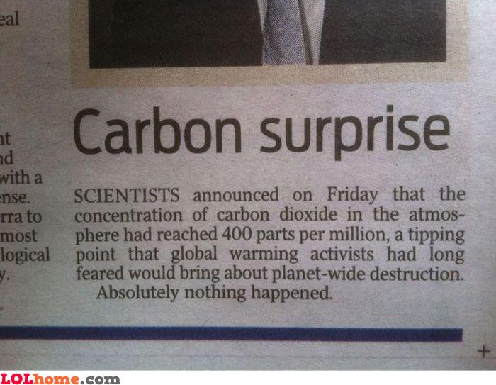 Carbon surprise