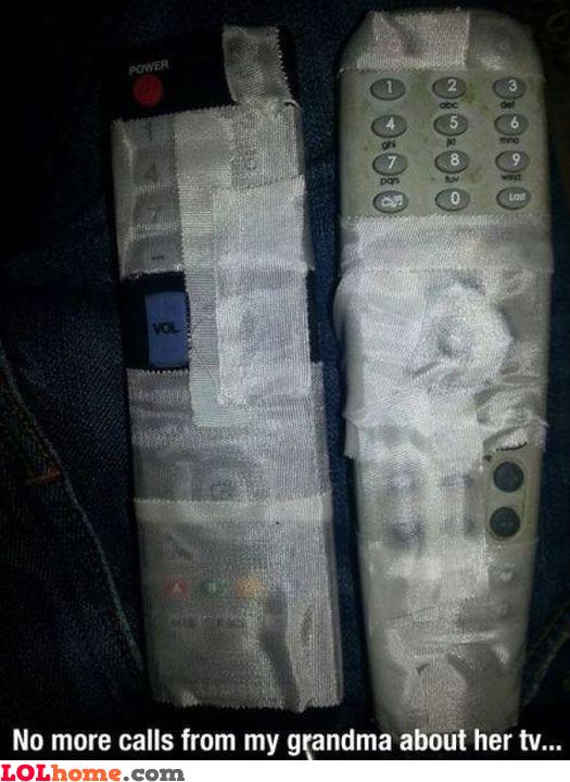 Grandma's remote