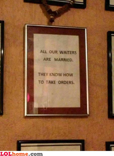 Married waiters