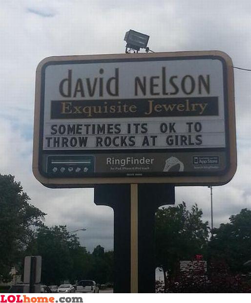 Throw rocks at girls