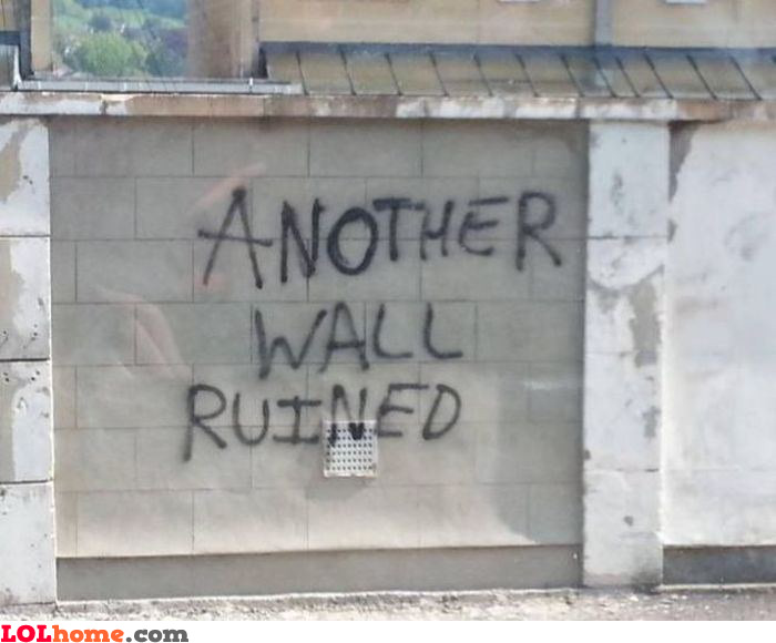 Aother wall ruined