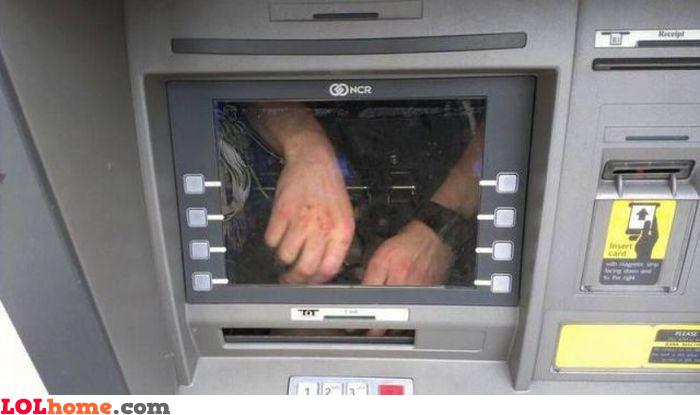 Broken ATM