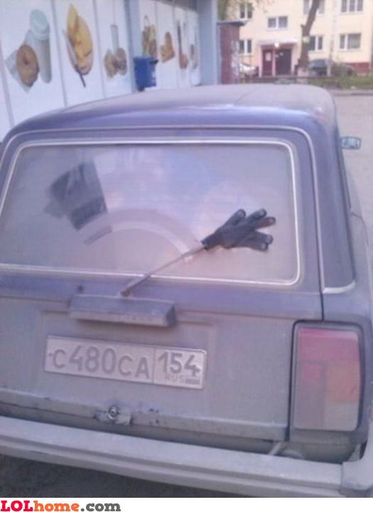 Do it yourself window wiper