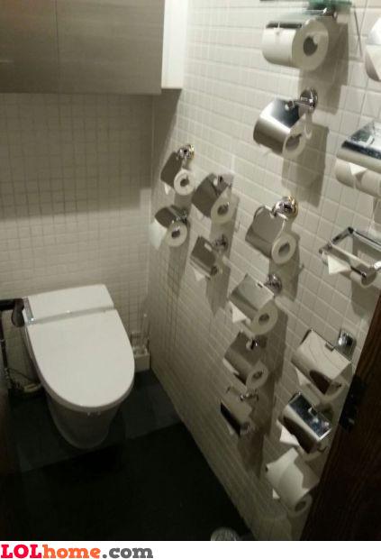Toilet paper backup