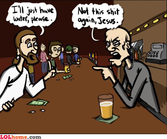 Jesus at the bar