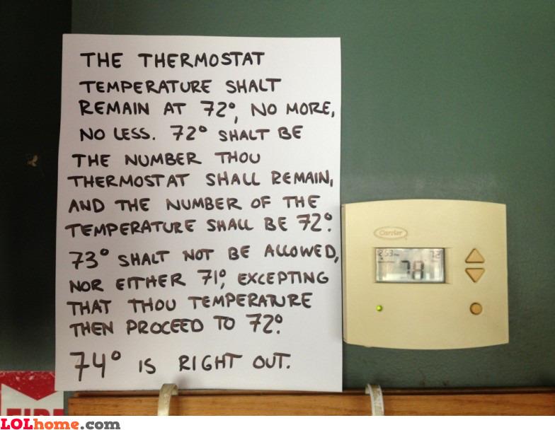 Exact temperature