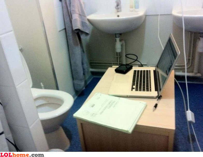 Toilet office