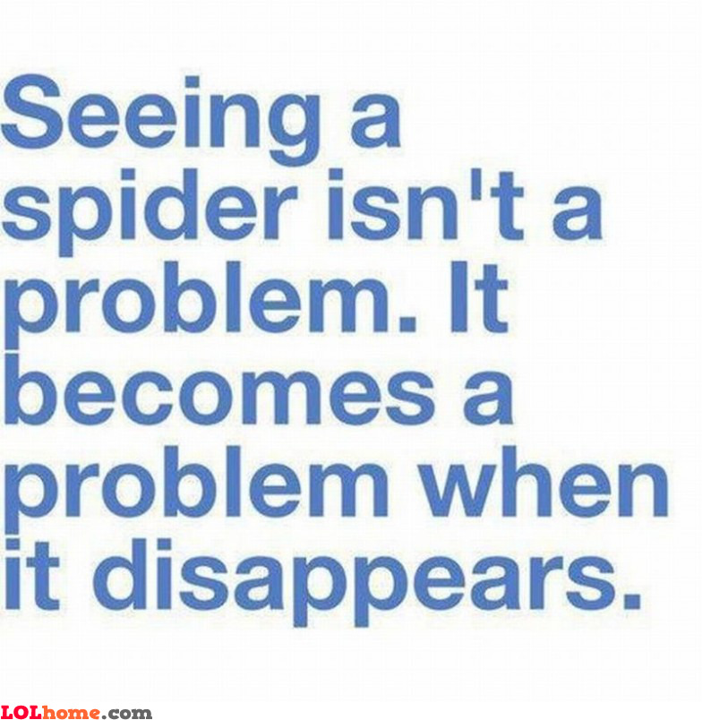 Disappearing spiders
