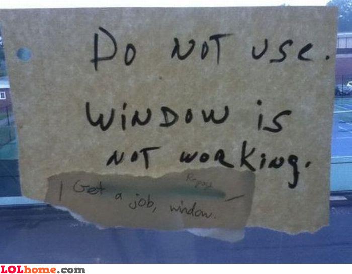 Window not working