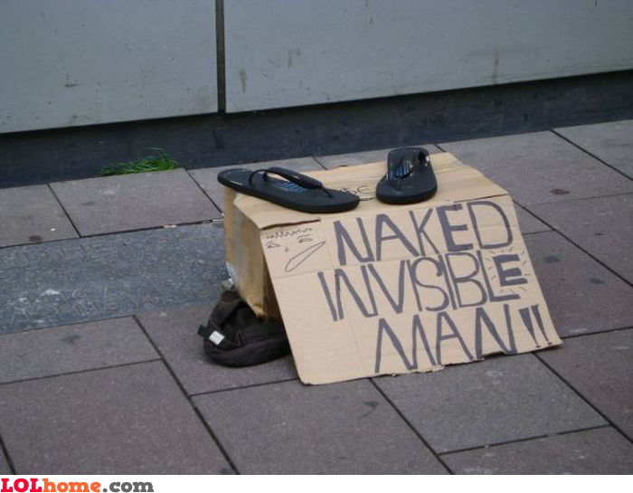 Naked invisible man