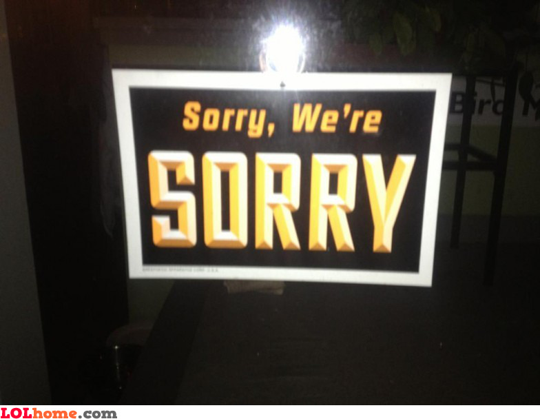 Sorry for sorry
