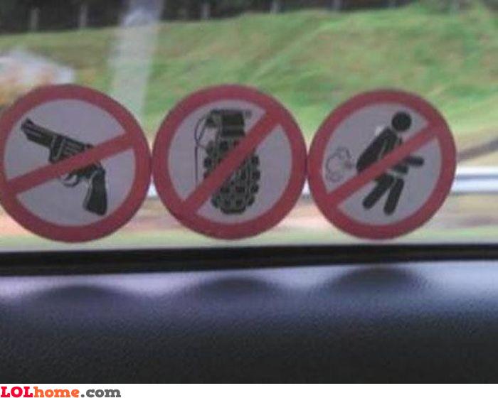 No farts