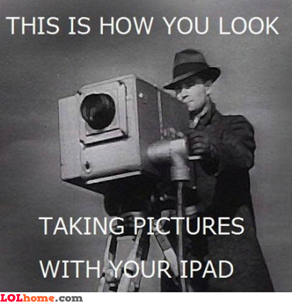 Taking pictures with an iPad