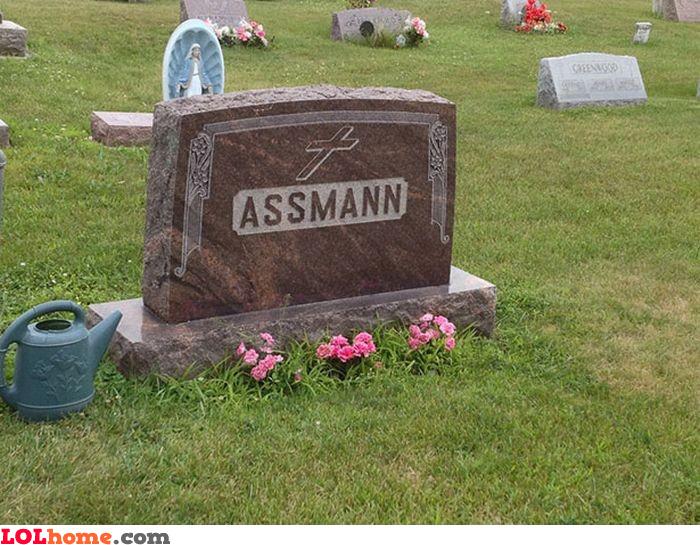 Assmann tombstone