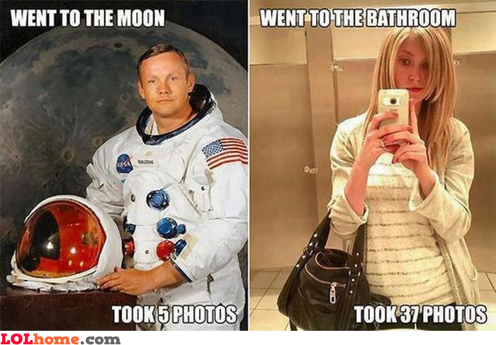 Only 5 pics on the Moon