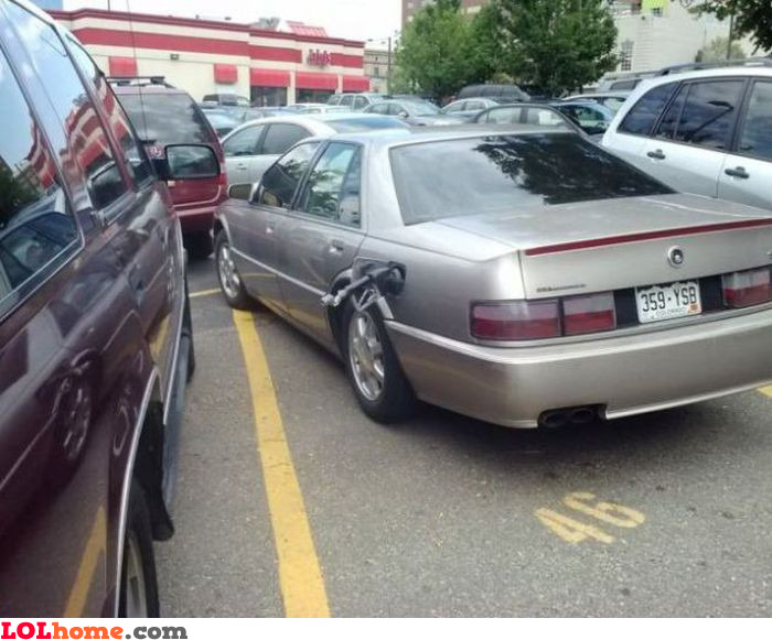 Great parking job too
