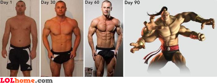 Getting fit timeline