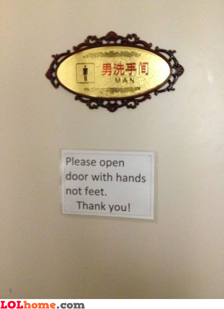 Open door with hands