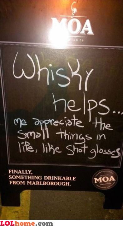 Whisky helps