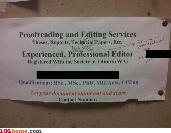 Proofreader's proofreader