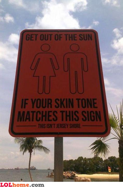 Useful warning sign