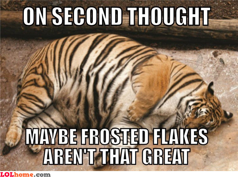 Frosted flakes aren't great