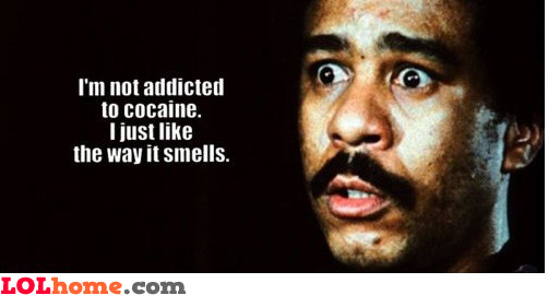 Smelling cocaine