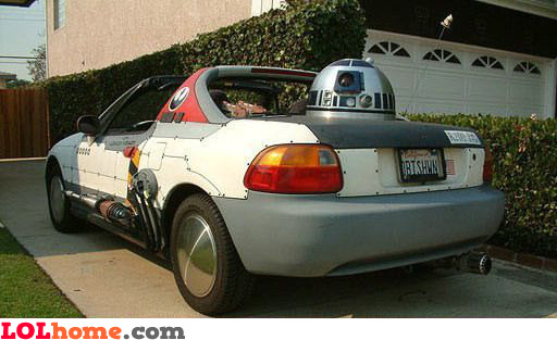 Star Wars fan car