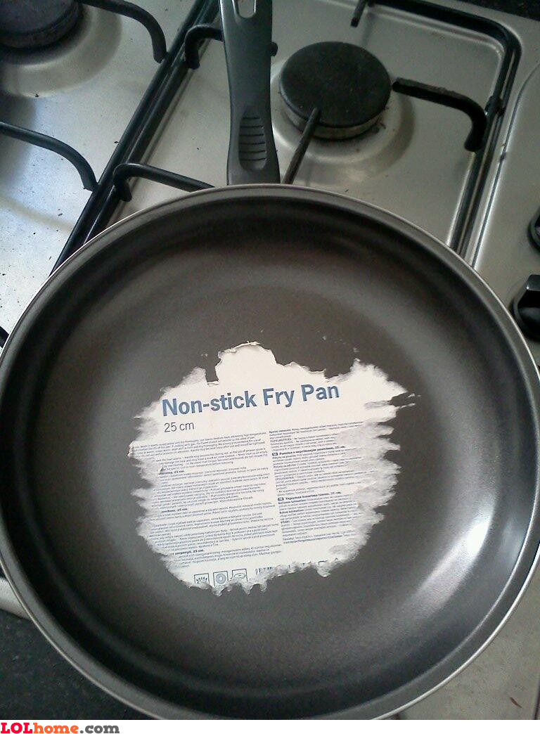 No stick fry pan