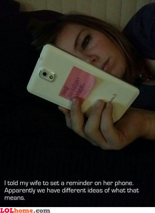 Phone reminder