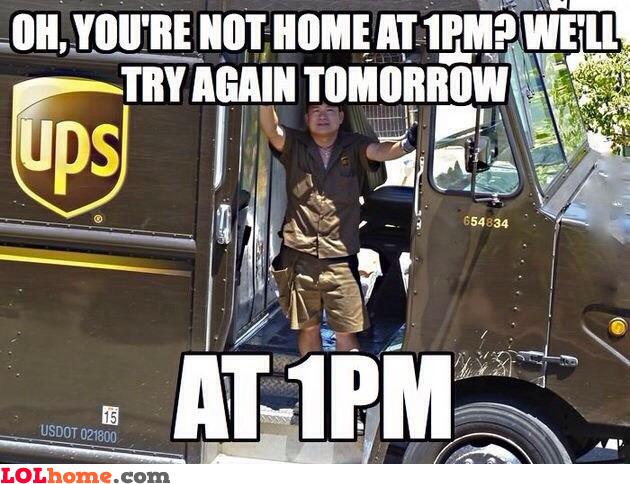 Scumbag UPS man