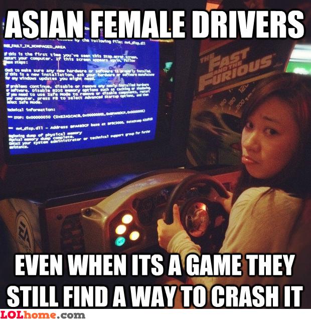 Asian female drivers