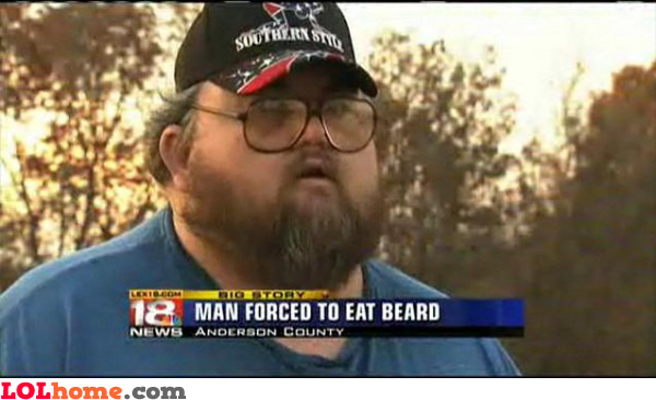 Beard eating