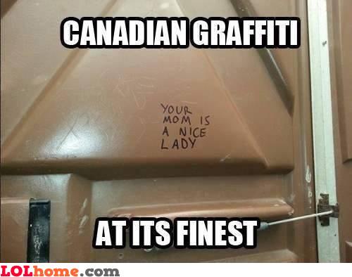 Canadian graffiti