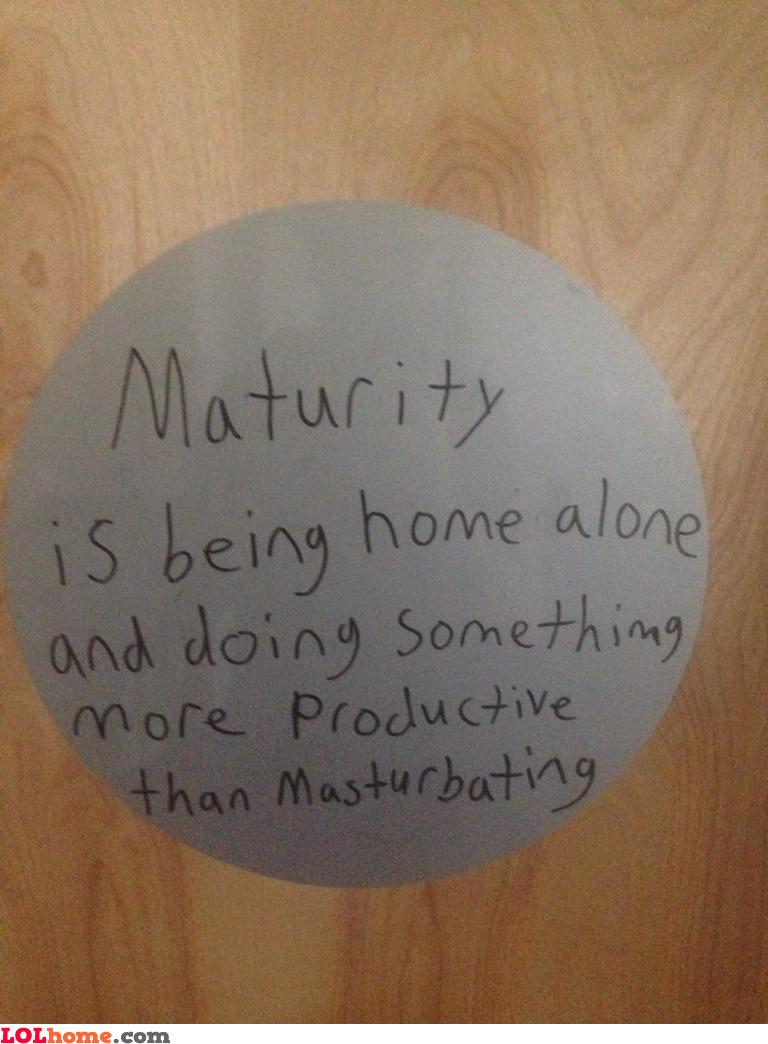 Defining maturity