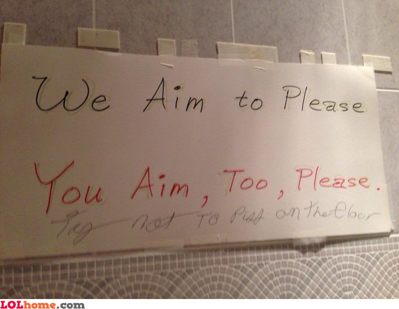 Aim to please