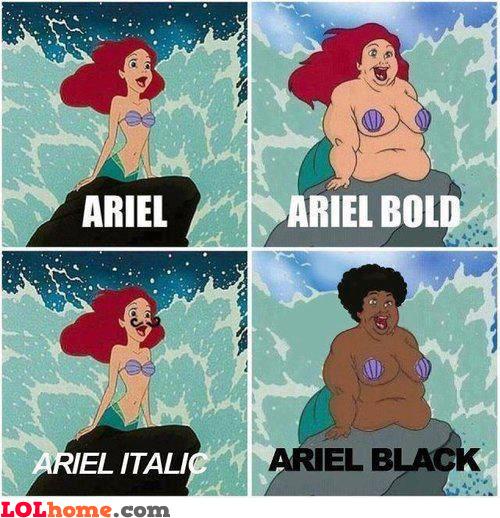 Ariel font type