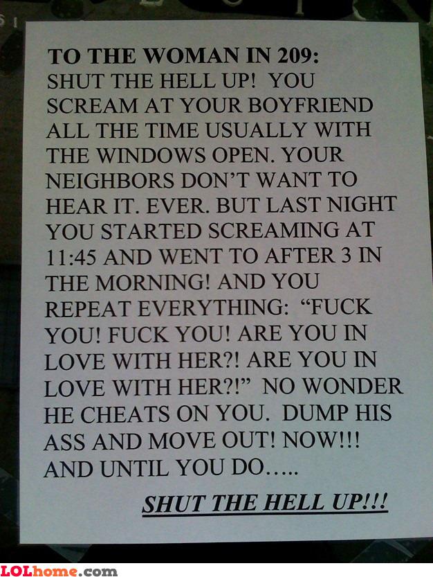 Shut the hell up!
