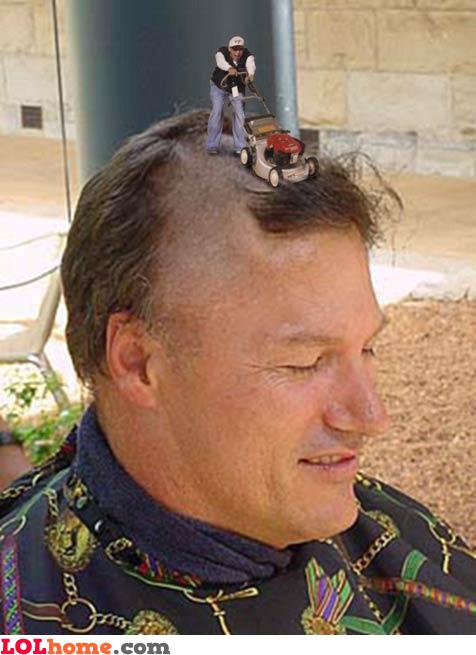 Mow the hair