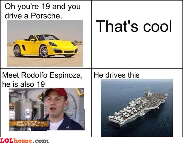 Driving a Porsche