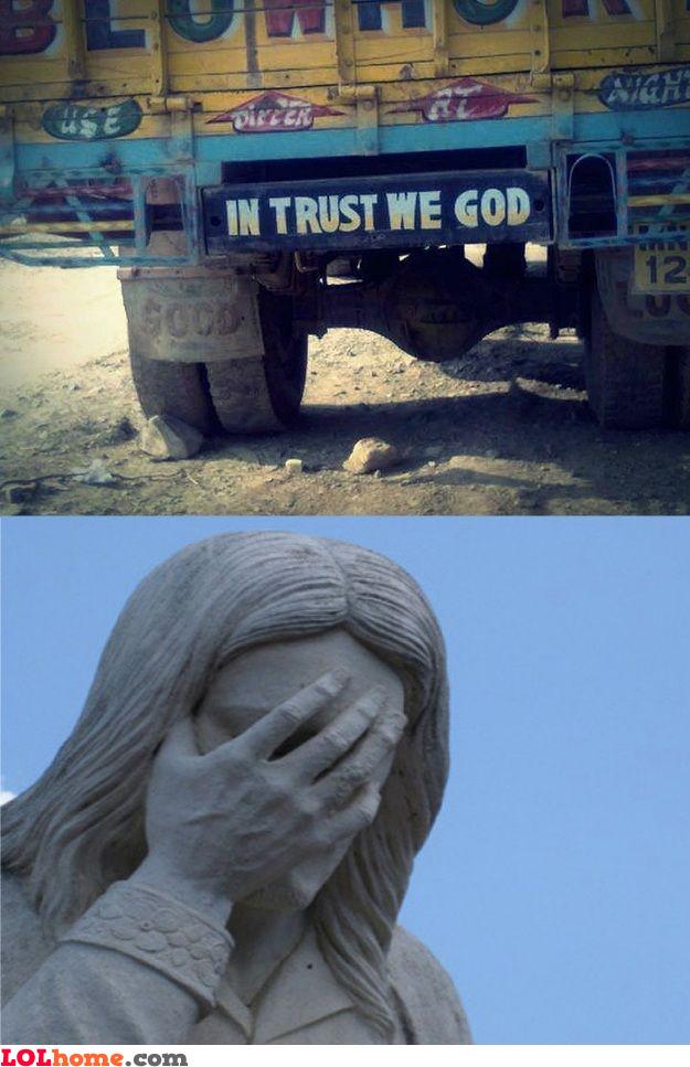 In trust we god