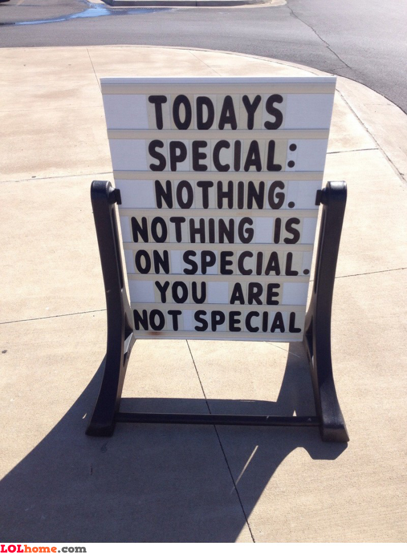 Nothing is special