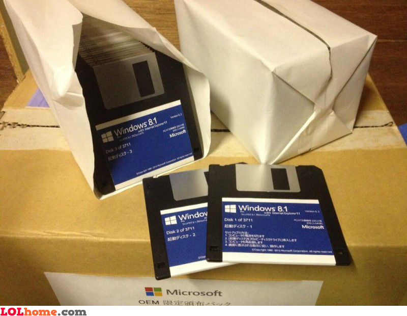 Windows 8 floppies